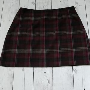 The Limited size 12 skirt brown and pink plaid